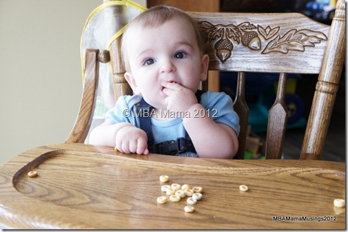 Baby Eating More Cheerios